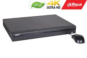 IP įrašymo įreng. 16kam. iki 12Mp, 2HDD, 16 PoE sąsajų 1-8 ePoE iki 800m, 320Mbps, IVS, H.265,
