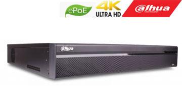 IP įrašymo įreng. 16kam. iki 12Mp, 4HDD, 16 PoE sąsajų 1-8 ePoE iki 800m, 320Mbps, IVS, H.265,