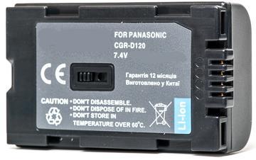 Panasonic, baterija D120, D08S