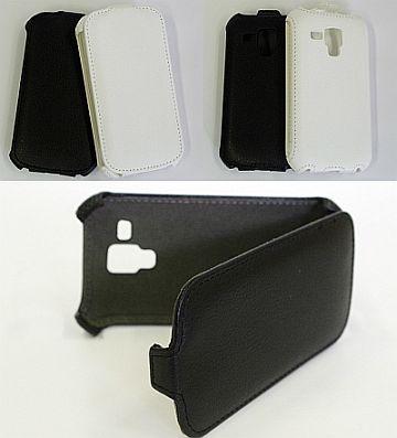 Atverčiamas odinis dėklas (Galaxy S Duos