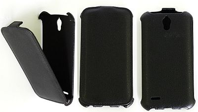 Atverčiamas odinis dėklas (Huawei G610T)
