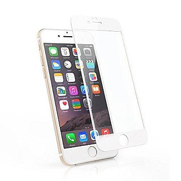 Apsauginis grūdintas stiklas / Tempered glass, Apple iPhone 6/6s, [3D, baltas]