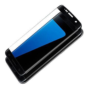 Apsauginis grūdintas stiklas (juodas) / Tempered glass, Samsung Galaxy S7 Edge [3D, juodas]