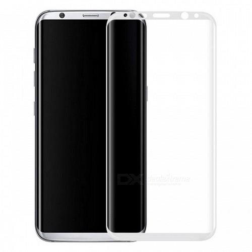 <b><mark><i>NAUJIENA!</i></b></mark> Apsauginis grūdintas stiklas Samsung Galaxy S8 [3D, baltas]