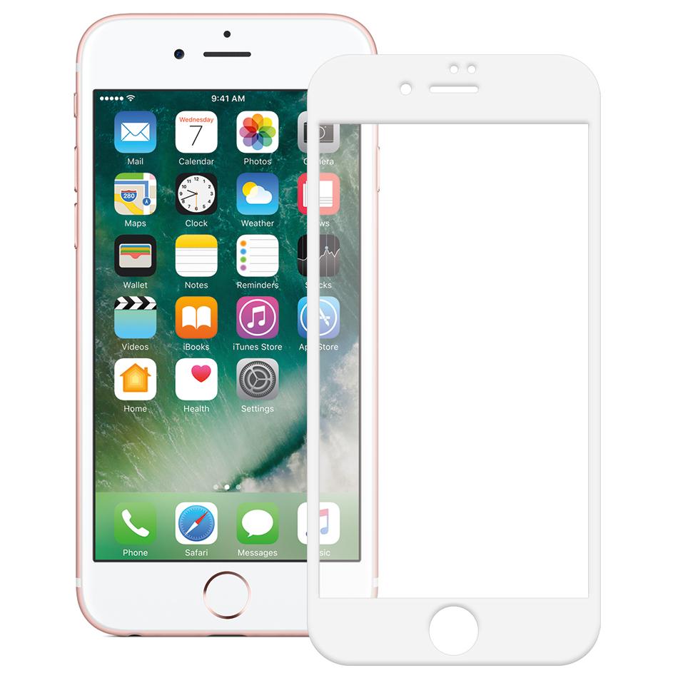 <b><mark><i>NAUJIENA!</i></b></mark> Apsauginis grūdintas stiklas Apple iPhone 7 / 8 [2.5D, baltas]