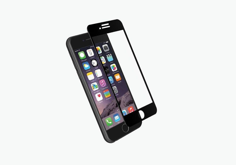 <b><mark><i>NAUJIENA!</i></b></mark> Apsauginis grūdintas stiklas Apple iPhone 7 / 8 [2.5D, juodas]
