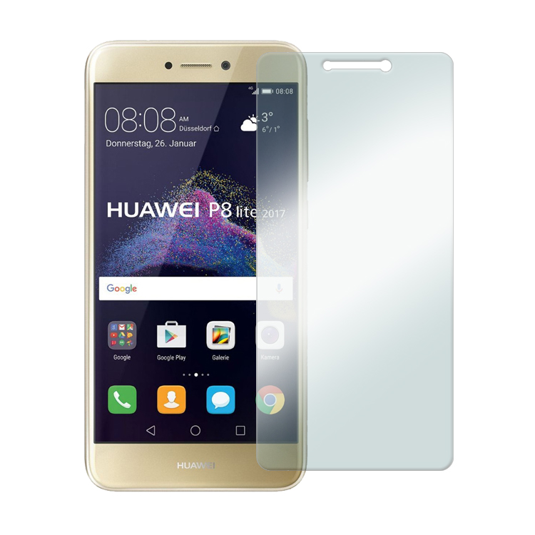 Apsauginis grūdintas stiklas Huawei P8 Lite (2017) [2.5D]