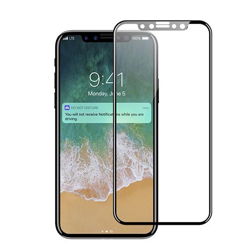 Apsauginis stiklas iPhone X [3D, juodas]