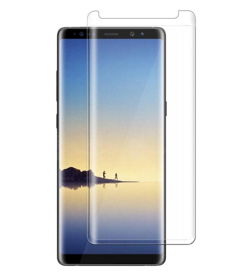 <b><mark>NAUJIENA!</b></mark>Apsauginis grūdintas stiklas, Samsung Galaxy Note 8, 3D (skaidrus)