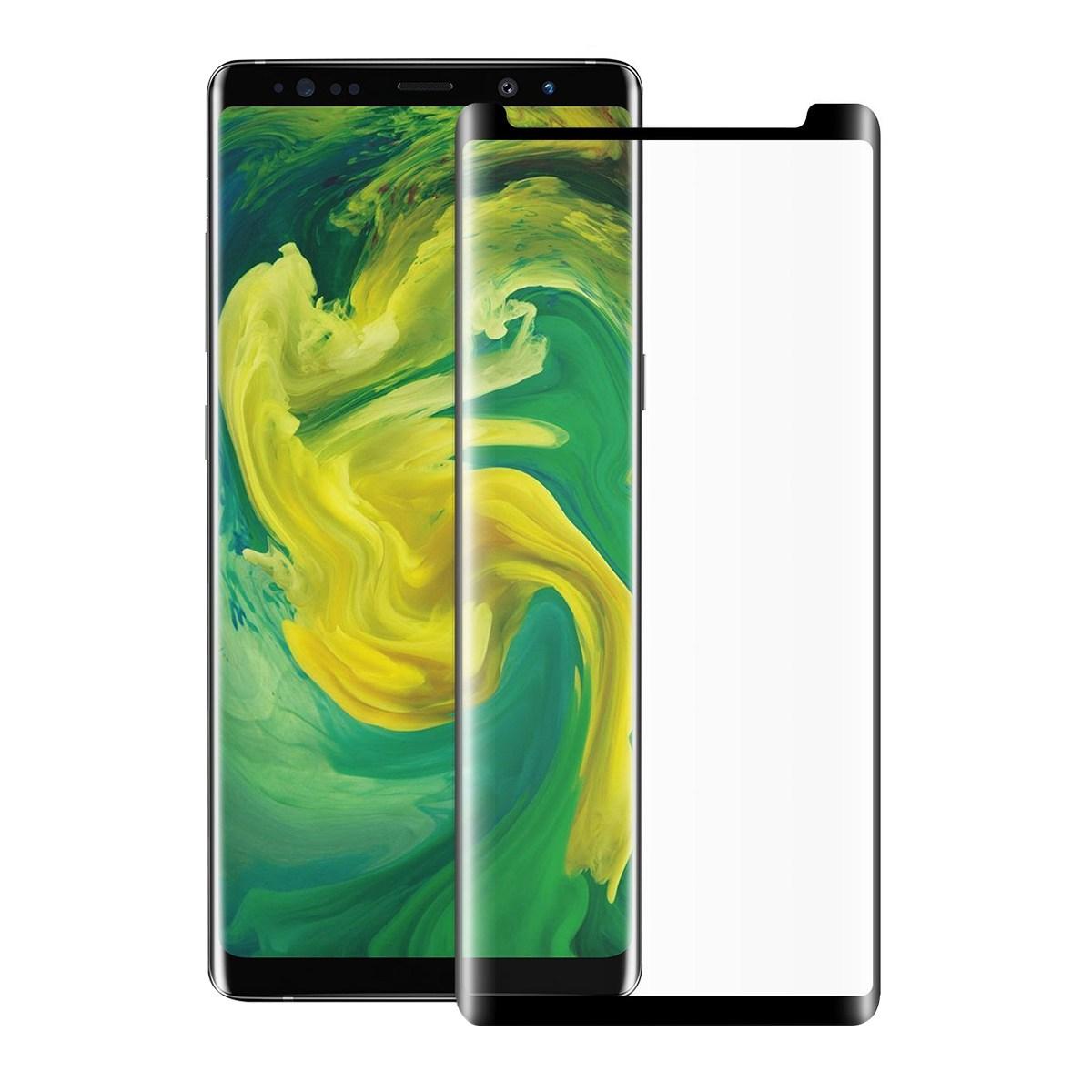 <b><mark><i>NAUJIENA!</i></b></mark>Apsauginis grūdintas stiklas Samsung Note 8 (3D, lipnūs kraštai)