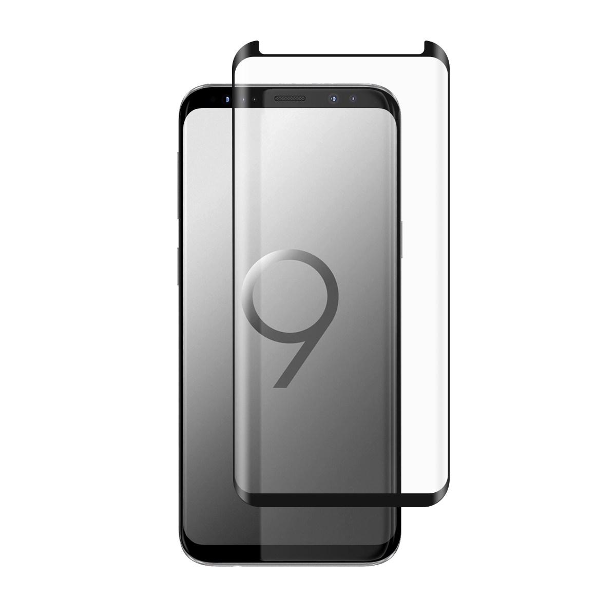 <b><mark><i>NAUJIENA!</i></b></mark> Apsauginis grūdintas stiklas Samsung S9 (3D, lipnūs kraštai)