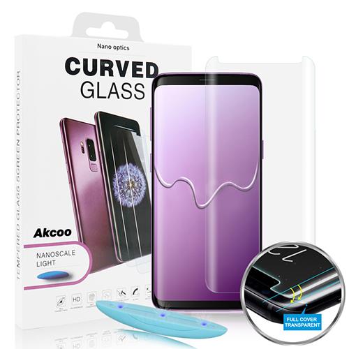 <b><mark><i>NAUJIENA!</i></b></mark>Apsauginis stiklas Samsung Galaxy S9+ (su silikoniniais klijais)