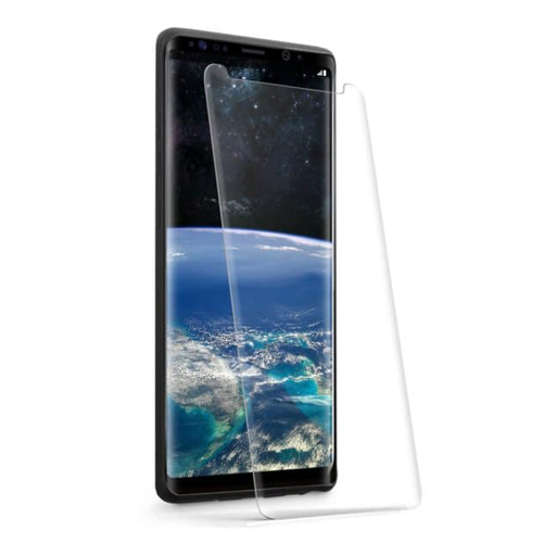 <b><mark><i>NAUJIENA!</i></b></mark>Stiklas Samsung Note 9 (3D, lipnūs kraštai, skaidrus)