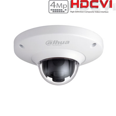 HD-CVI kamera Fish-Eye 4MP 1.18mm 360°, Dewarp, WDR, IK10, GEN III PRO serija