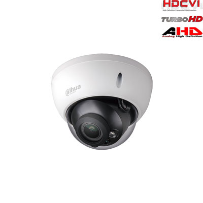 HD-CVI, TVI, AHD, CVBS kamera kupolinė 2MP su IR iki 30m. 1/2.7