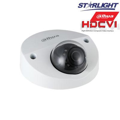 HD-CVI kam. STARLIGHT kupolinė 2MP su IR iki 20m, 2.8mm obj., STARVIS sensor., WDR, su mikrofonu