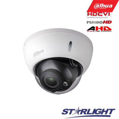 HD-CVI kam. STARLIGHT kupolinė 2 MP su IR iki 30m, 2.7~13.5mm automatinis obj, STARVIS sensor.,WDR
