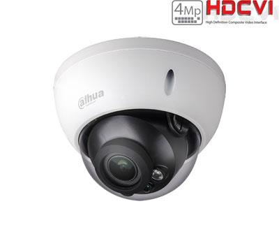 HD-CVI kamera kupolinė 4MP su IR iki 30m. 2.7~12mm 98°~26°, IP67, IK10, GEN III PRO serija
