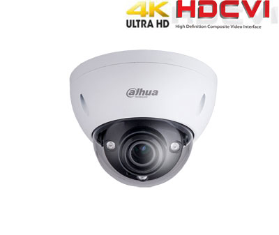 HD-CVI kamera kupolinė 4K 8MP 3840×2160 STARLIGHT su IR iki 50m. 3.7-11mm. WDR, IP67