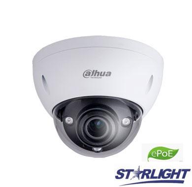 "IP kamera kupol. 2MP STARLIGHT su IR iki 50m. 1/2.8"",2.7-13.5mm. WDR, IP67,IVS, 0.006Lux, IK10,ePoE"