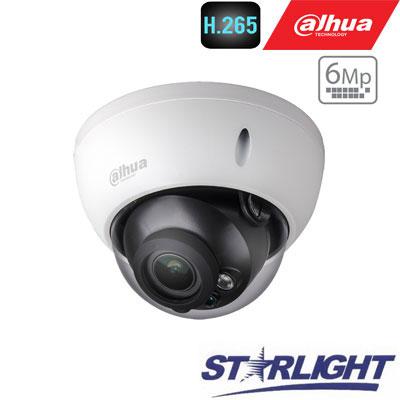 "IP kamera kupol.6MP STARLIGHT 20fps, IR 50m.,1/2.9"" 2.7~13.5mm. motor. obj. WDR, H.265, IP67, ePoE"