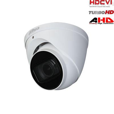 HD-CVI, TVI, AHD, CVBS kamera kupolinė 2MP su LXIR iki 60m. 1/2.7