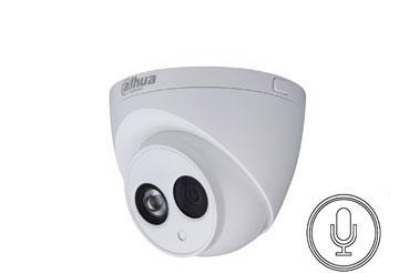 HD-CVI kamera kupolinė 2MP su IR iki 50m. 3.6mm, integruotas mikrofonas, GEN III PRO serija HAC-HDW2
