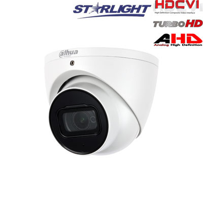HD-CVI kam. STARLIGHT kupolinė 2.1MP su LXIR iki 50m, 2.8mm obj., STARVIS sensor., WDR, su mikrofonu