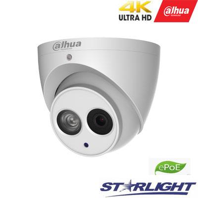 4K IP kamera 8MP 15fps su LXIR iki 50m., H.265, IVS, 2.8mm 112°,IP67, integruotas mikrofonas