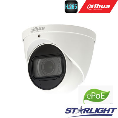 """IP kamera kupol. 2MP STARLIGHT IR iki 50m. 1/2.8"""",2.7-12mm. WDR, IP67,IVS, 0.006Lux, IP67, mic,ePoE"""