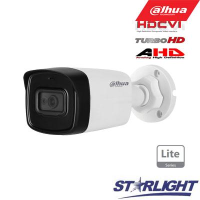 HD-CVI kam. STARLIGHT cilindrinė 2MP su IR iki 80m, 3.6mm obj., STARLIGT sensor., mic, IP67