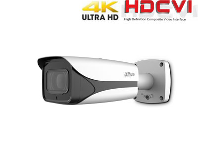 HD-CVI kamera cilindrinė 4K 8MP 3840×2160 STARLIGHT su IR iki 100m. 3.7-11mm. WDR, IP67