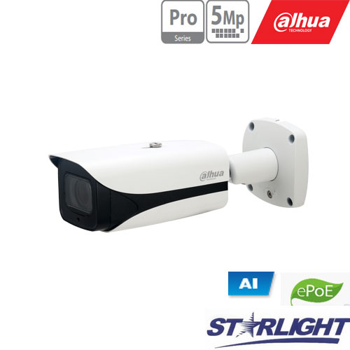 IP kam. AI 5M 2K Cilind. STARLIGHT su LXIR iki 50m, 5MP(2592 × 1944) 1~20fps, 2.7mm–13.5mm, H.265+