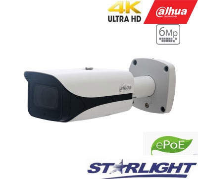 4K IP kam.cilindrinė 8MP STARLIGHT 15fps su IR iki 50m., H.265, IVS, 2.7-12mm, IP67, ePoE, WDR