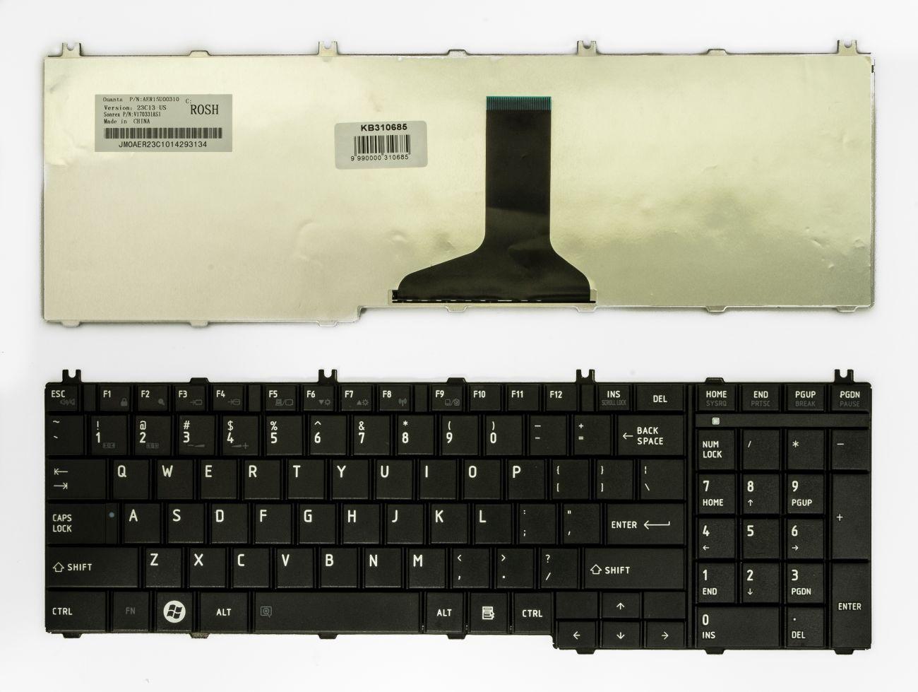 Klaviatūra, TOSHIBA Satellite C650, L650,  L670