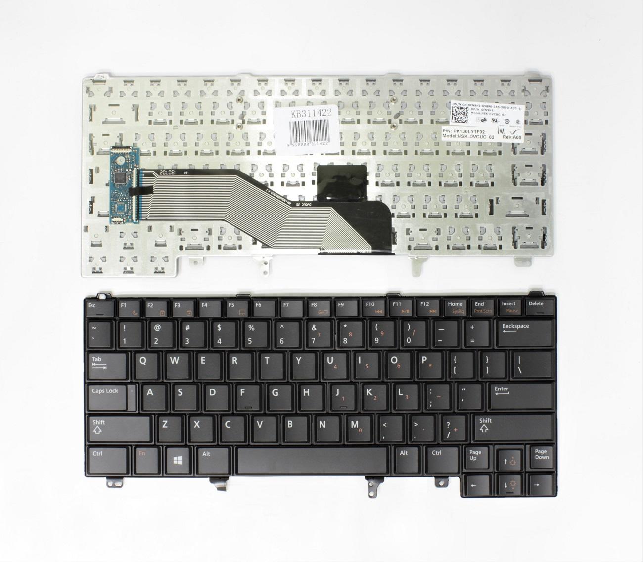Klaviatūra DELL Latitude: E6220, E6420