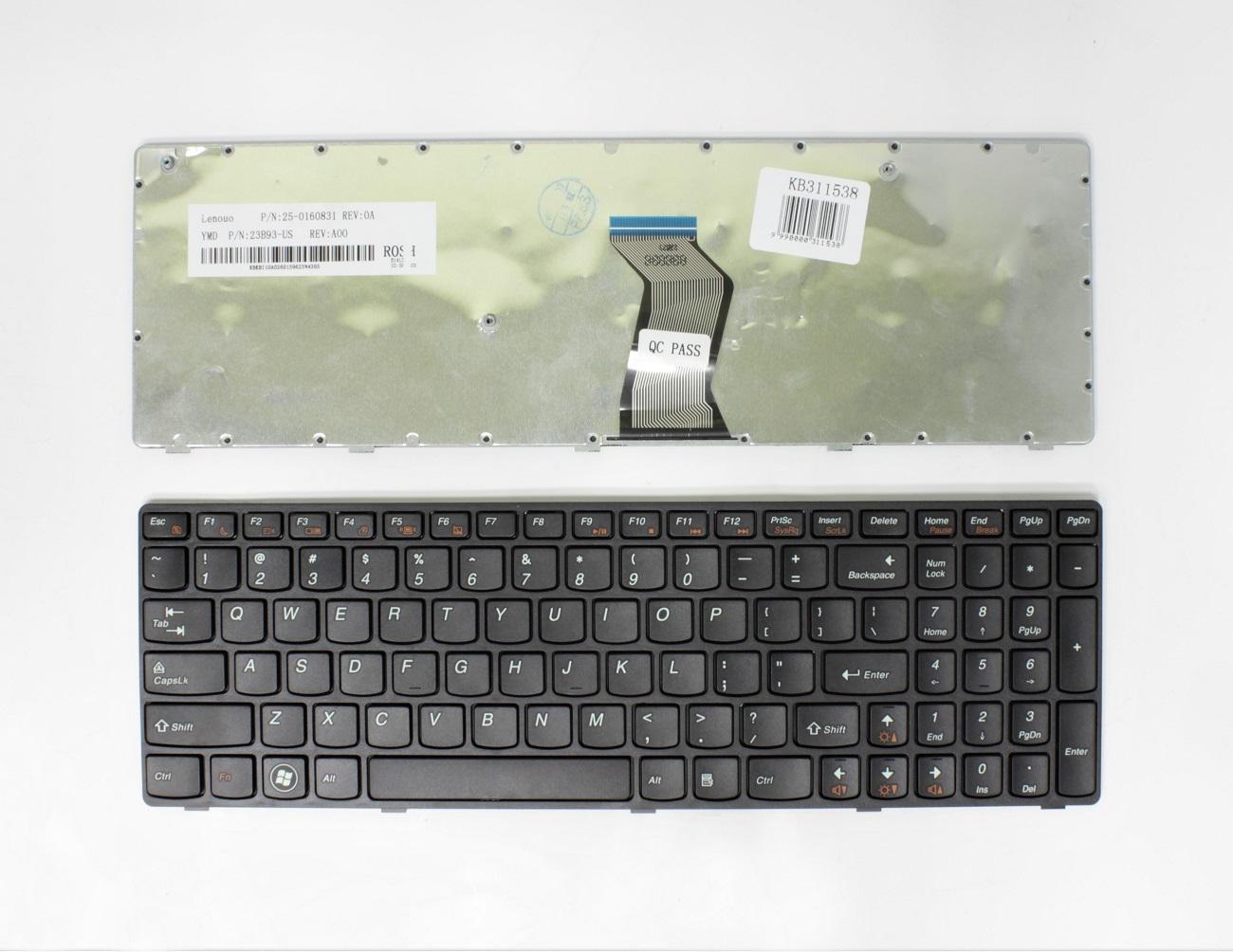 Klaviatūra LENOVO: B570, B575, V570, Y570