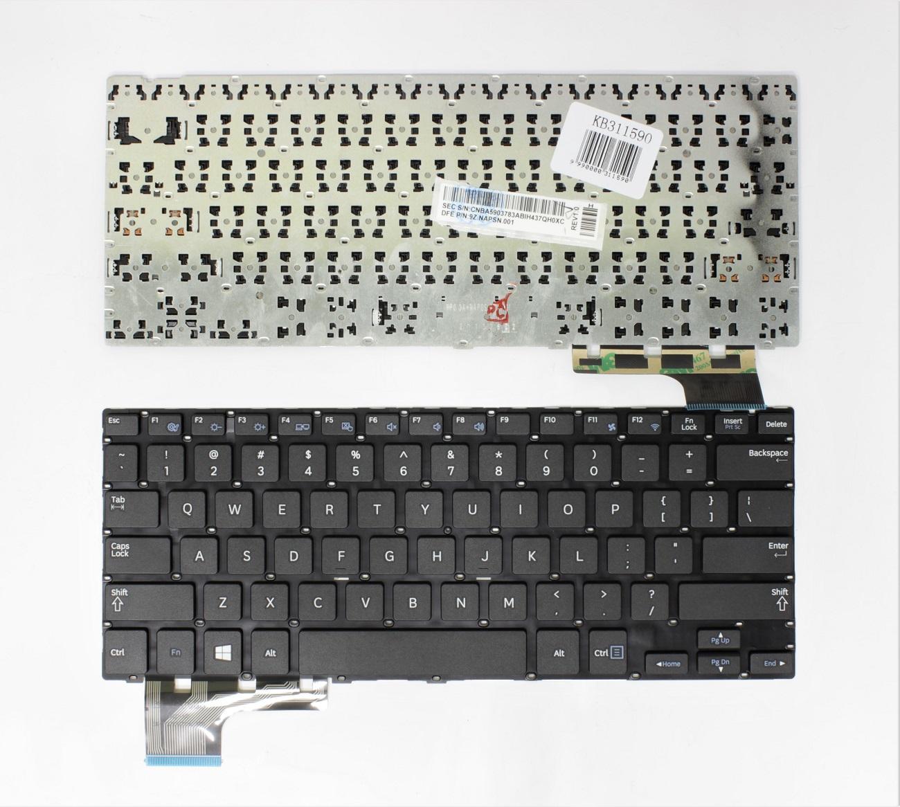Klaviatūra SAMSUNG: 905S3G, NP905S3G, 910S3G, NP910S3G, 915S3G, NP915S3G