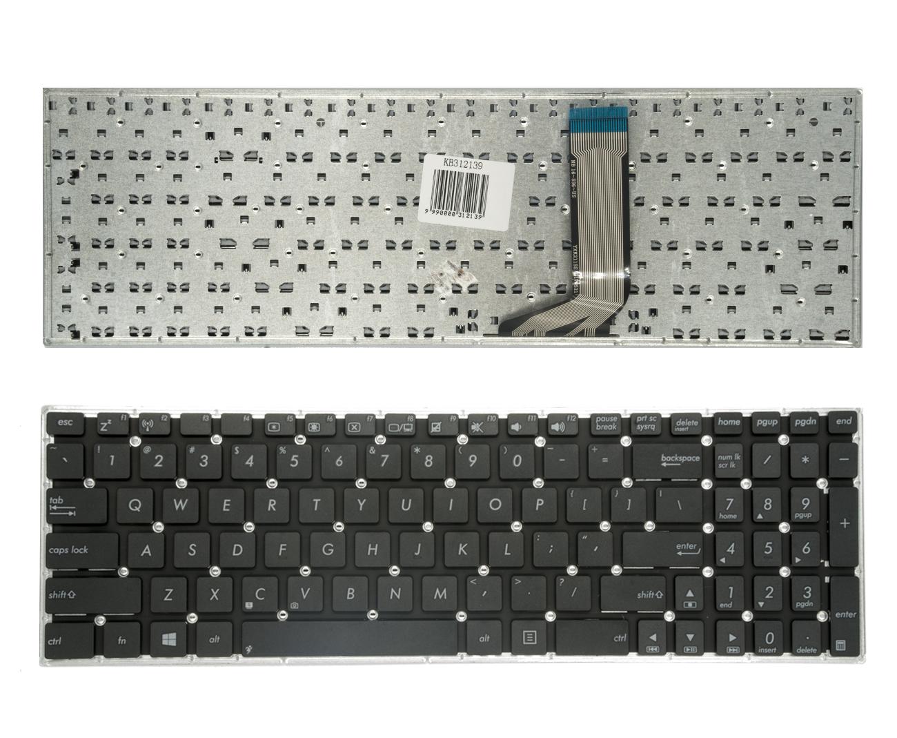 Klaviatūra ASUS: R558, R558U, R558UA, R558UB, R558UF, R558U