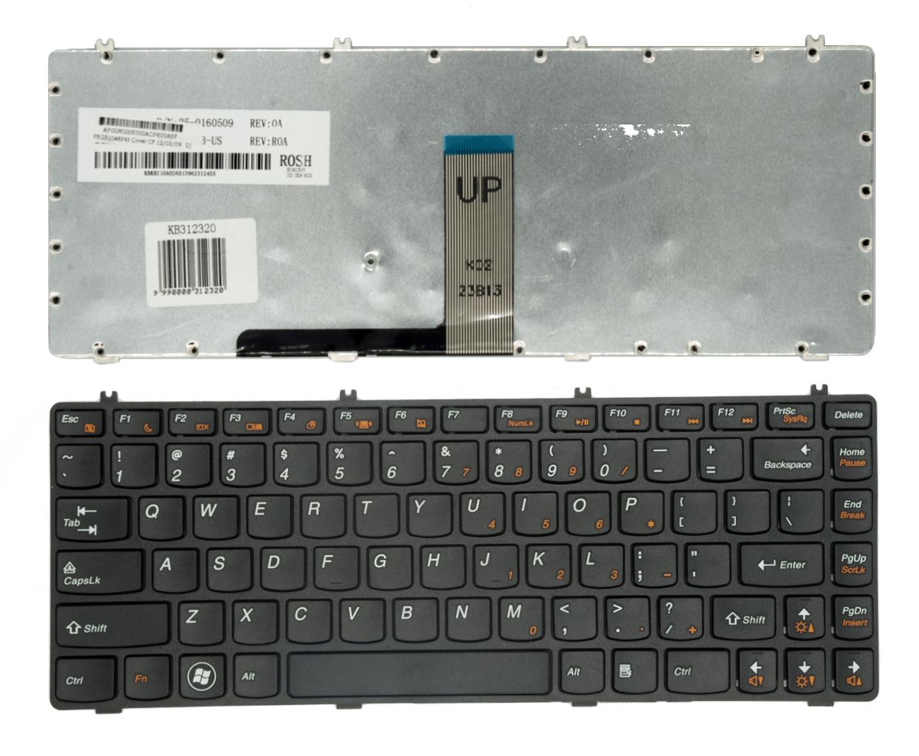 Klaviatūra LENOVO Ideapad: Y470, Y471