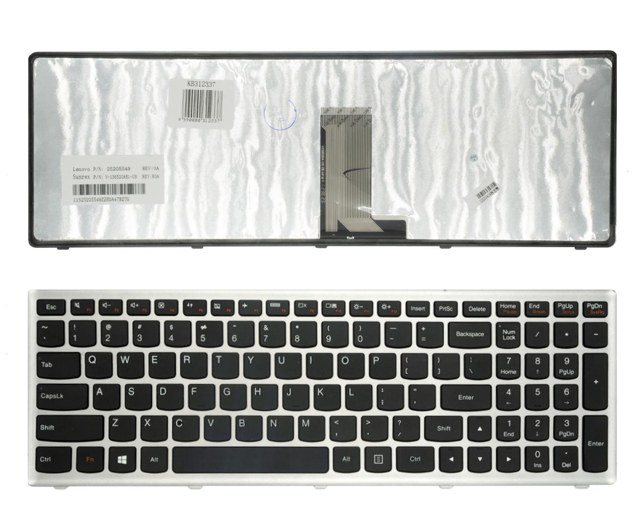 Klaviatūra LENOVO Ideapad: U510, Z710