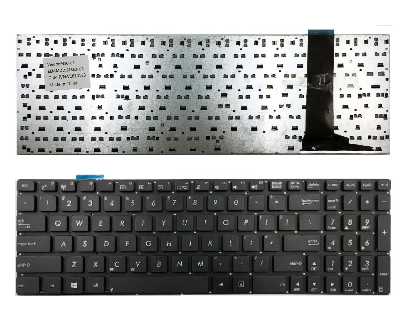 Klaviatūra ASUS: N56VB, N56J, N56JN