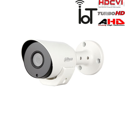 HD-CVI, TVI, AHD, CVBS kamera cilindrinė 2MP su IR iki 20m. 1/2.9