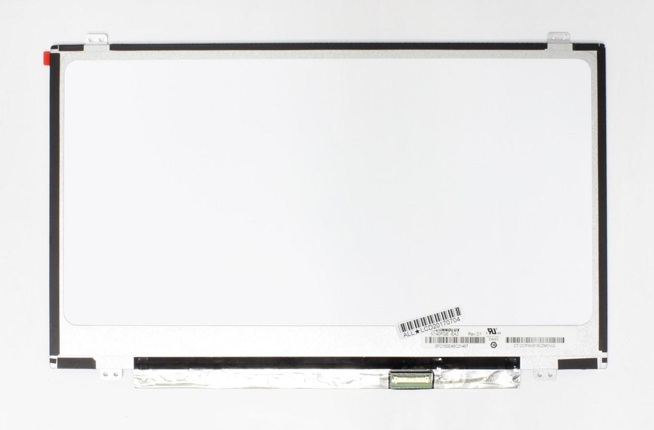 Matrica 14.0' 1600×900 HD+, LED , SLIM, matinis, 30pin (dešinėje) EDP,  A+
