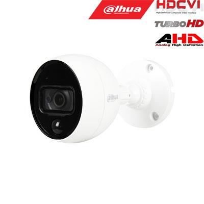 HD-CVI, TVI, AHD, CVBS kamera kupolinė 2MP su IR iki 20m, integruotas PIR daviklis, 2.8mm. 109.4°,