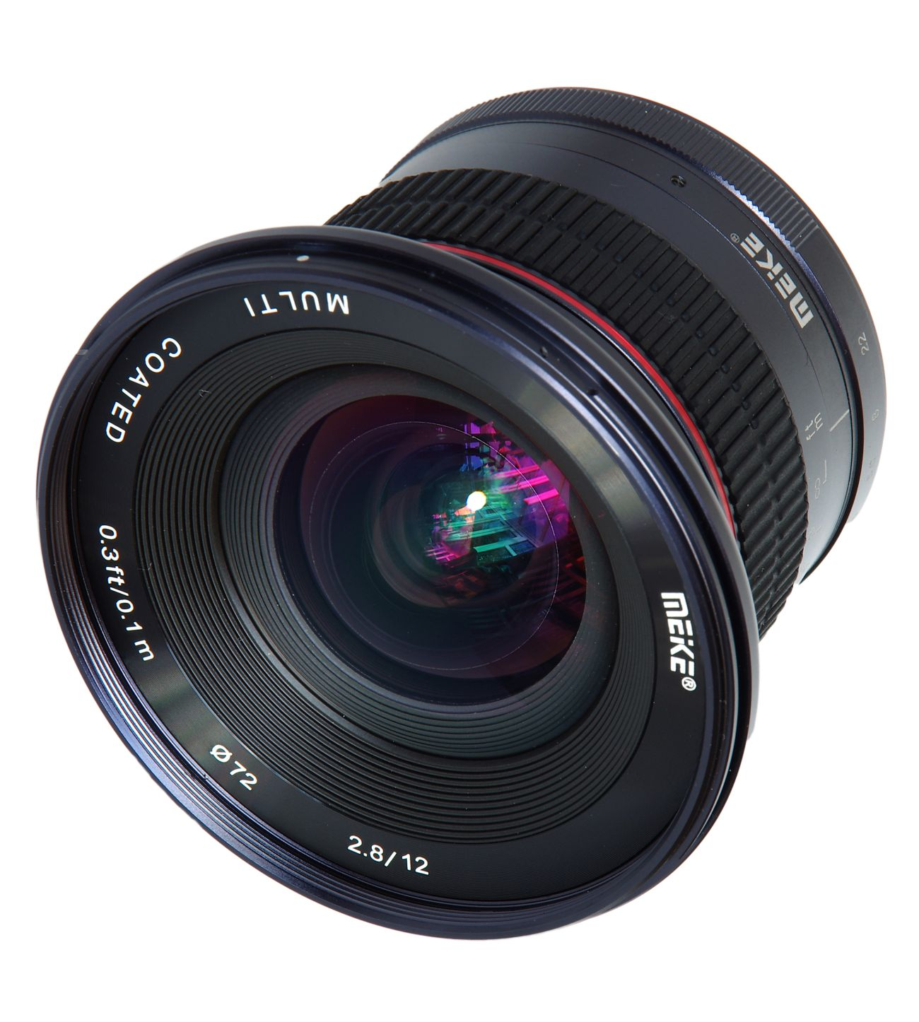 Itin plataus kampo objektyvas:12mm APS-C F2.8 EF-mount