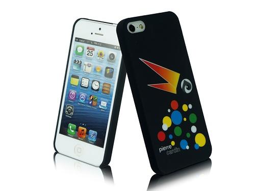 Telefono nugarėlė, Pierre Cardin, juoda su papūga (iPhone 5/5s/SE)