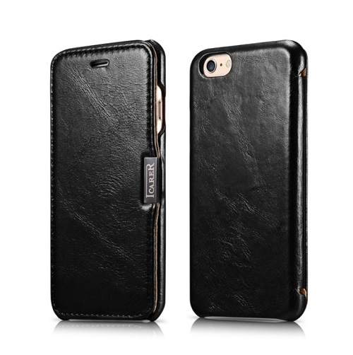 Atverčiamas dėklas, juodas (iPhone 6/6s)
