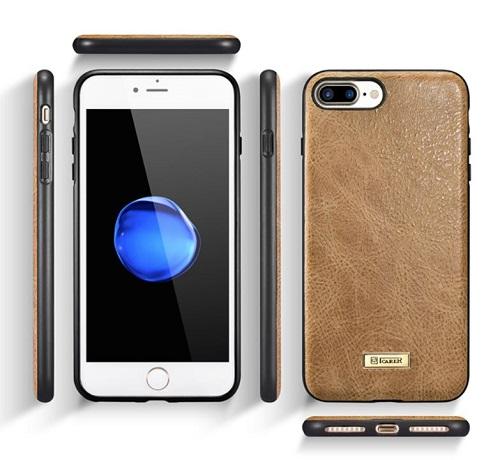 Stilinga natūralios odos nugarėlė, ruda (iPhone 7 Plus/ 8 Plus)