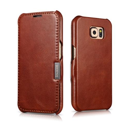 Dėklas, rudas (Samsung Galaxy S6)